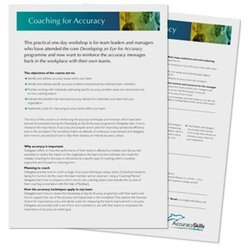 Coaching for Accuracy course overview
